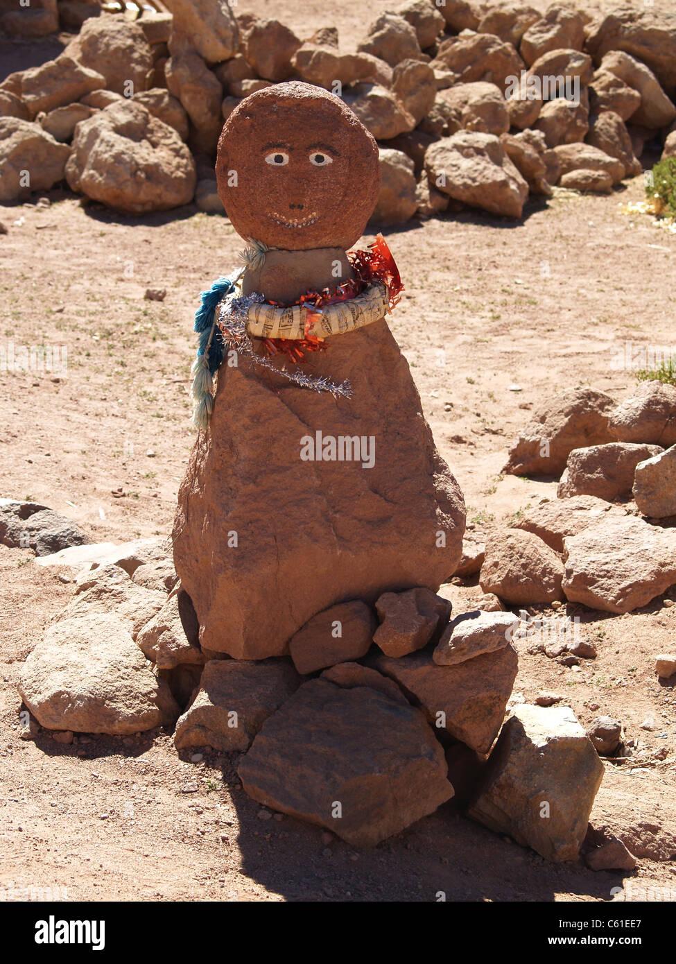 Clay figure in village of Machuca, Atacama Desert,Chile Stock Photo