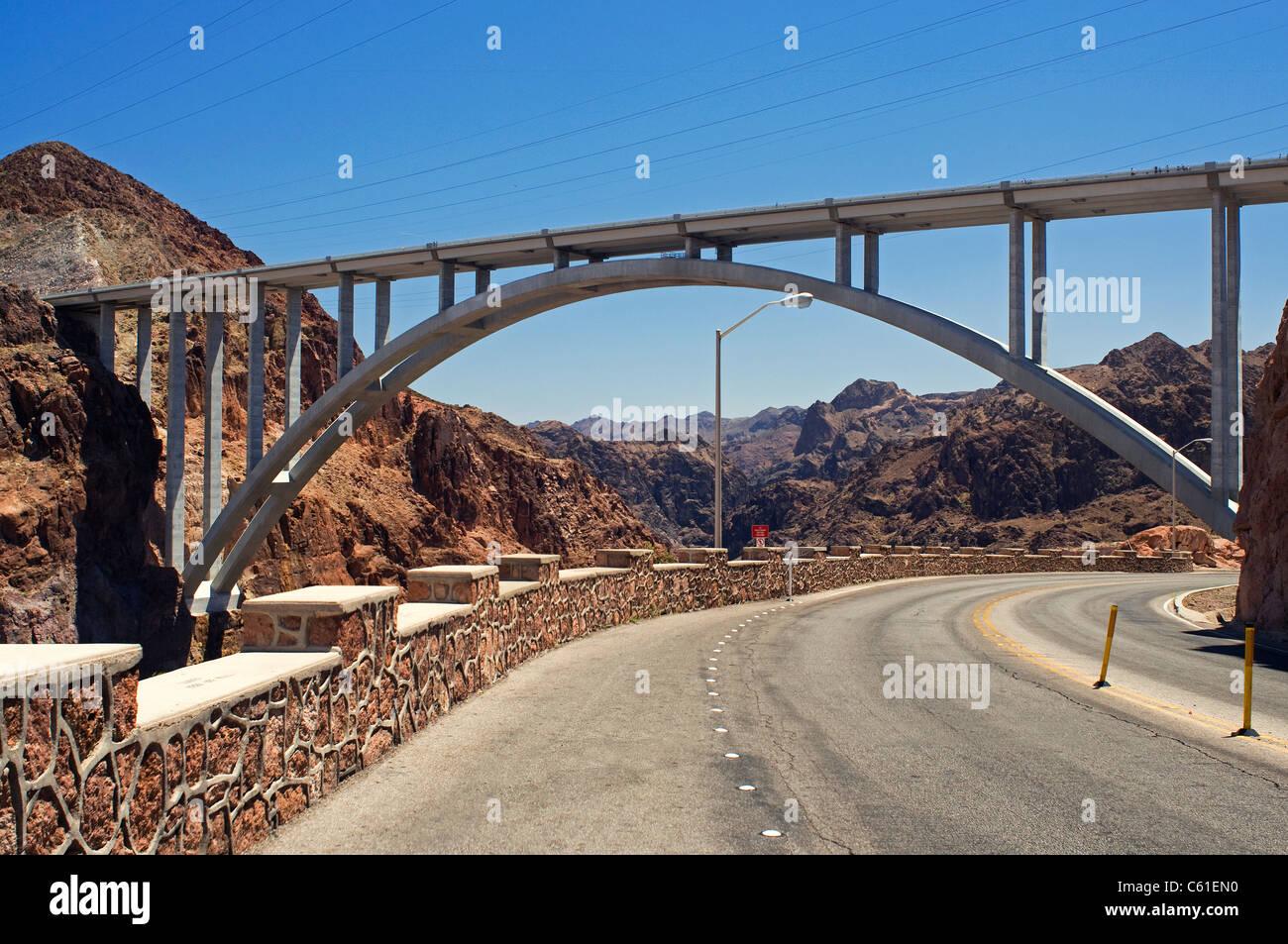 Hoover dam lake mead Boulder city NV Stock Photo