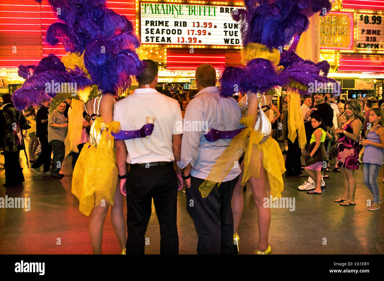 Wondrous Showgirls Fremont Street Downtown Las Vegas Nv Stock Photo Download Free Architecture Designs Crovemadebymaigaardcom