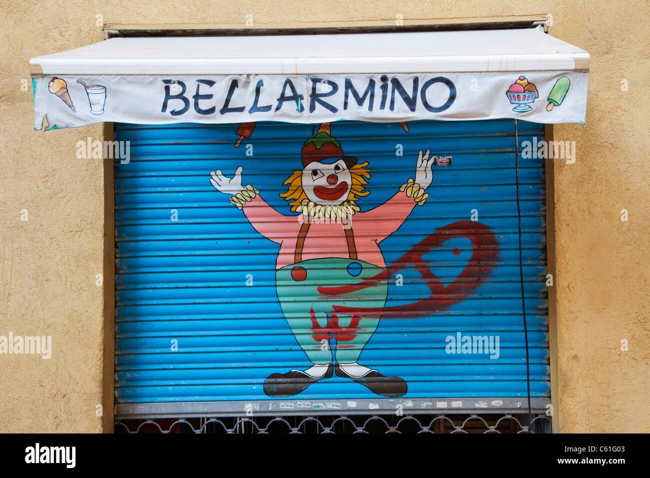 Spain, Barcelona, The Gothic Quarter, Graffitti - Stock Image