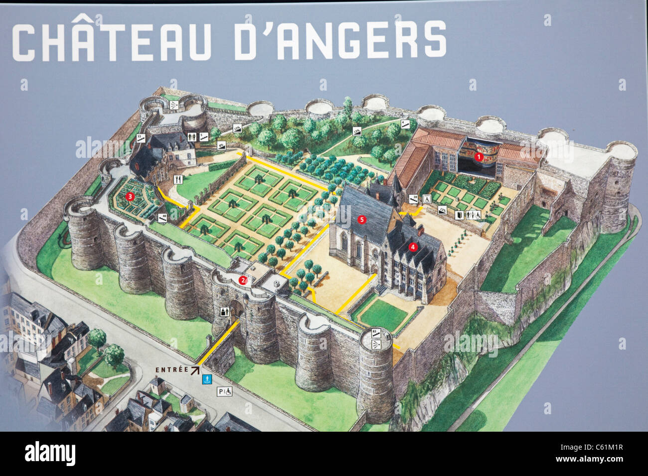 Castle Layout High Resolution Stock Photography And Images Alamy