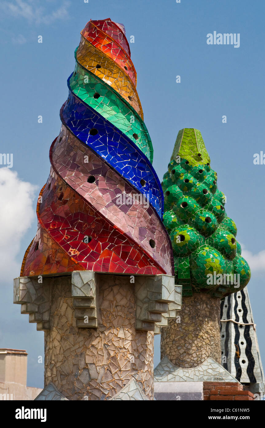 Antoni Gaudi Designed The Chimney Pots On The Roof Of