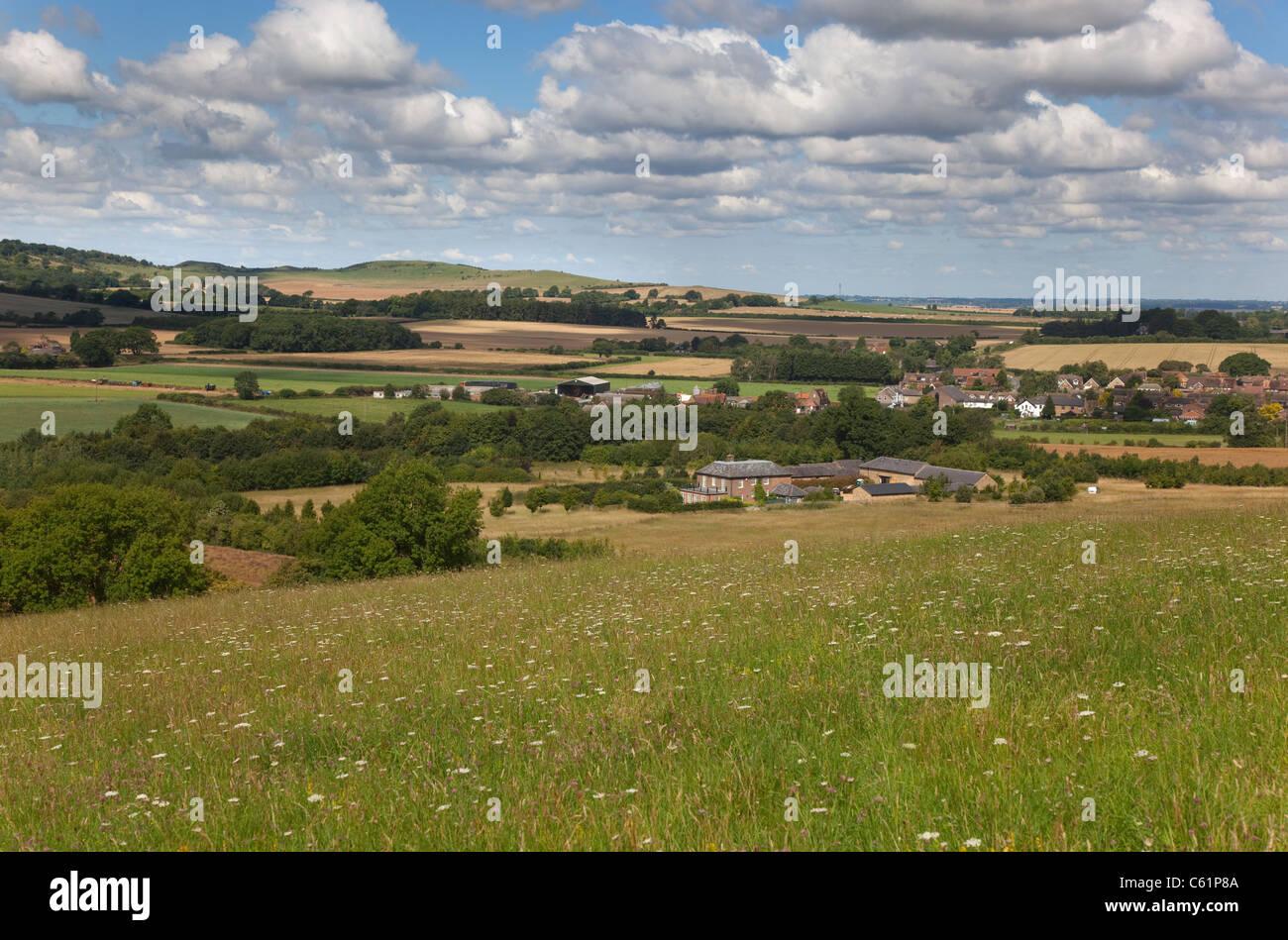 Dagnall village Gade Valley Hertfordshire August - Stock Image