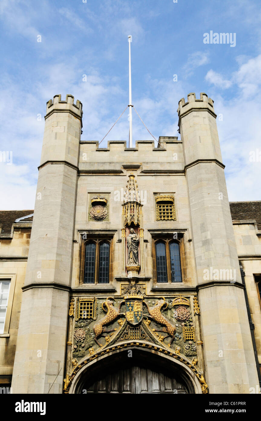 Christs College Gatehouse, Cambridge, England, UK - Stock Image
