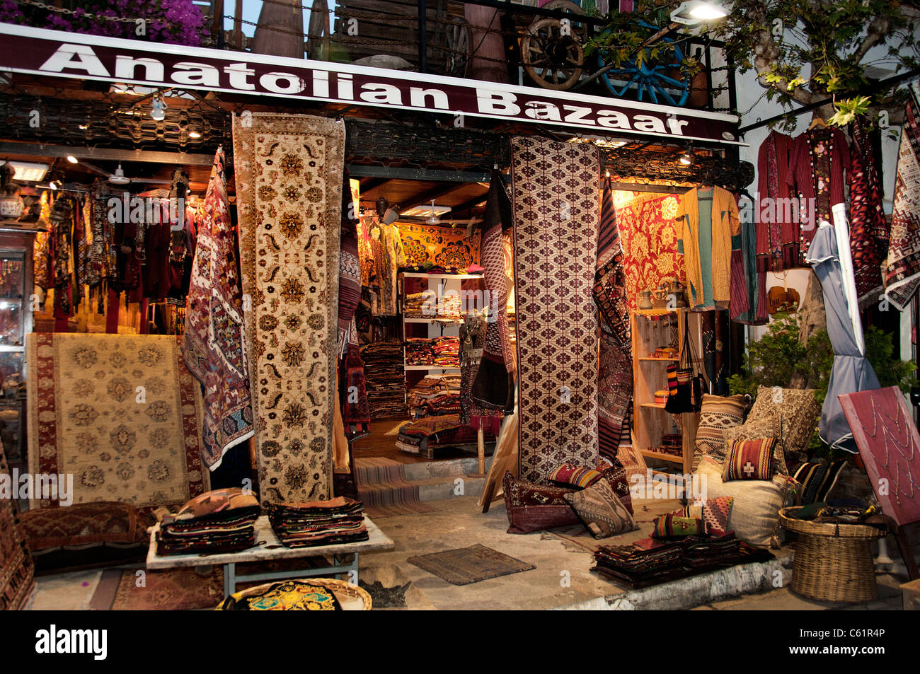 Antaly Turkey Turkish Market Bazaar Carpets Carpet - Stock Image