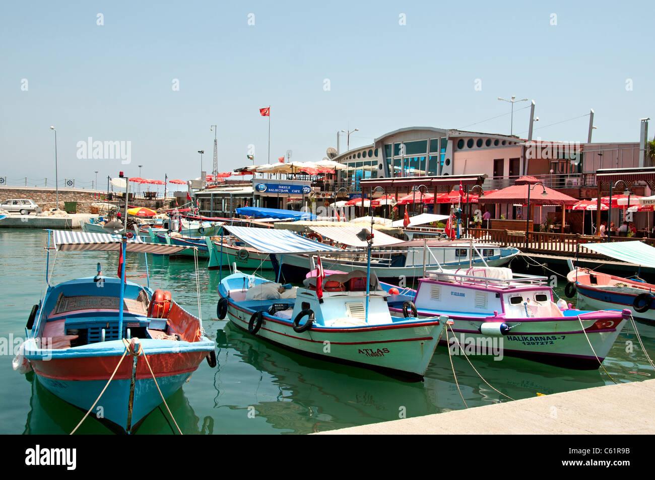 Alanya Boat Town Ship Turkey Port Harbor Beach Sea - Stock Image