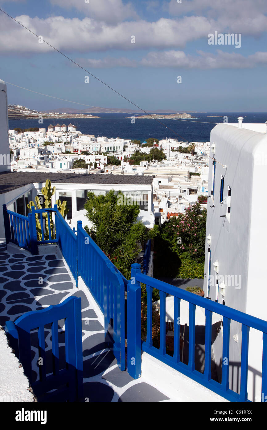 Old town of Mykonos, Greece, Europe, - Stock Image
