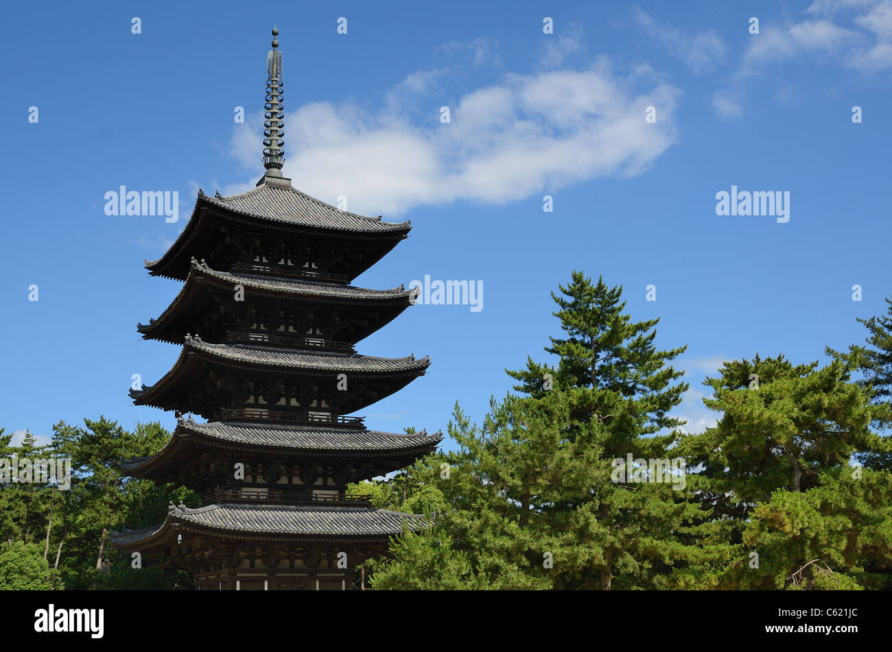 Kofuku-ji is one of the 8 Historic Monuments of Ancient Nara as designated by UNESCO in Nara, Japan. - Stock Image