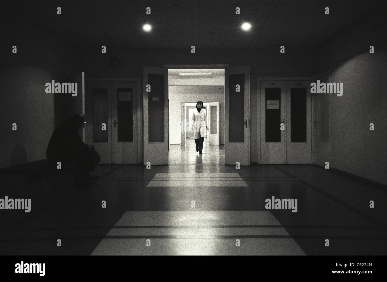 Thyroid Cancer Ward in hospital, Kiev, Ukraine, where many people suffer from cancers allegedly caused by the Chernobyl - Stock Image