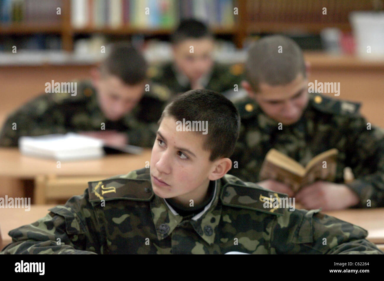Ukrainian Military Orphanage where majority of the orphans are there because of the Chernobyl disaster - Stock Image