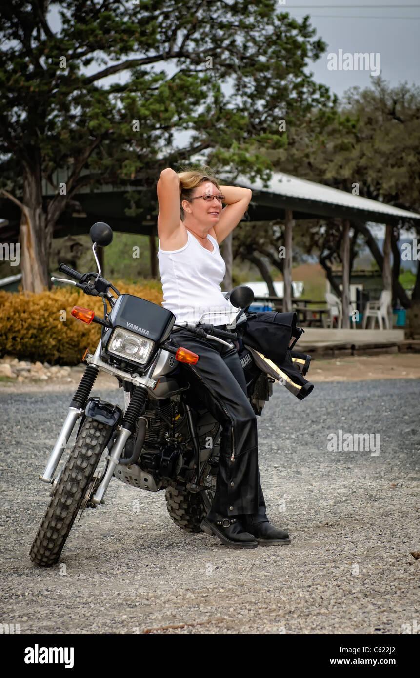 Lady biker Robin The