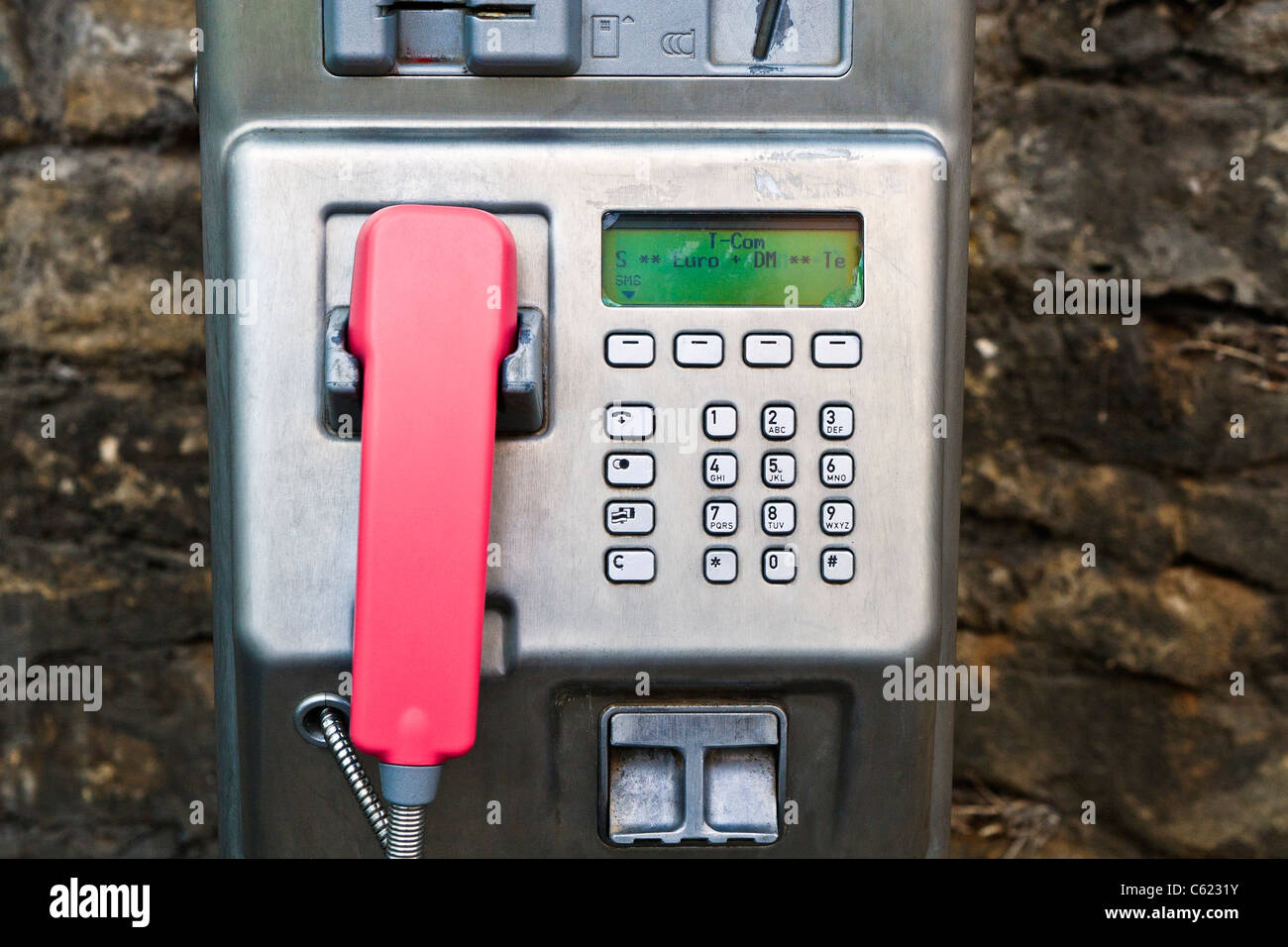T-Com payphone, Germany - Stock Image