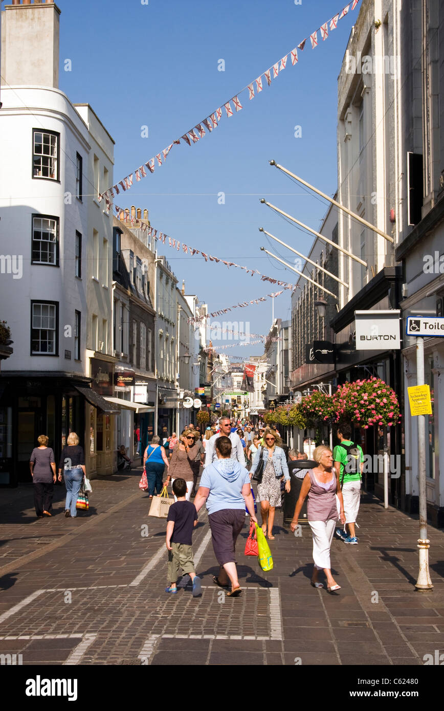 Shopping, St Helier,  Jersey - Stock Image