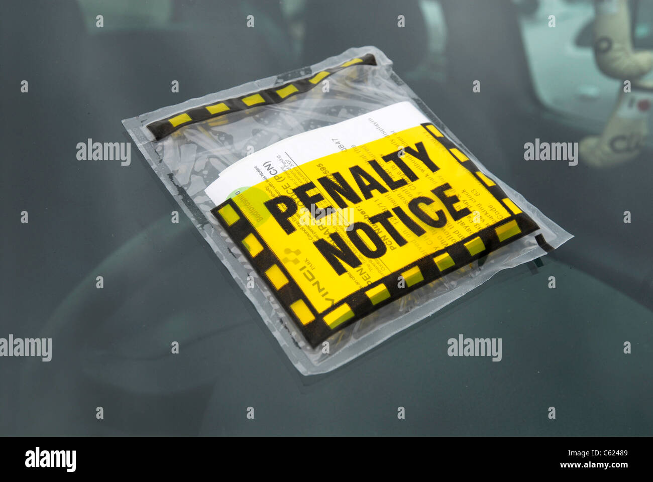 A penalty notice for parking on a car in Dunstable, Bedfordshire, UK, 2011. - Stock Image