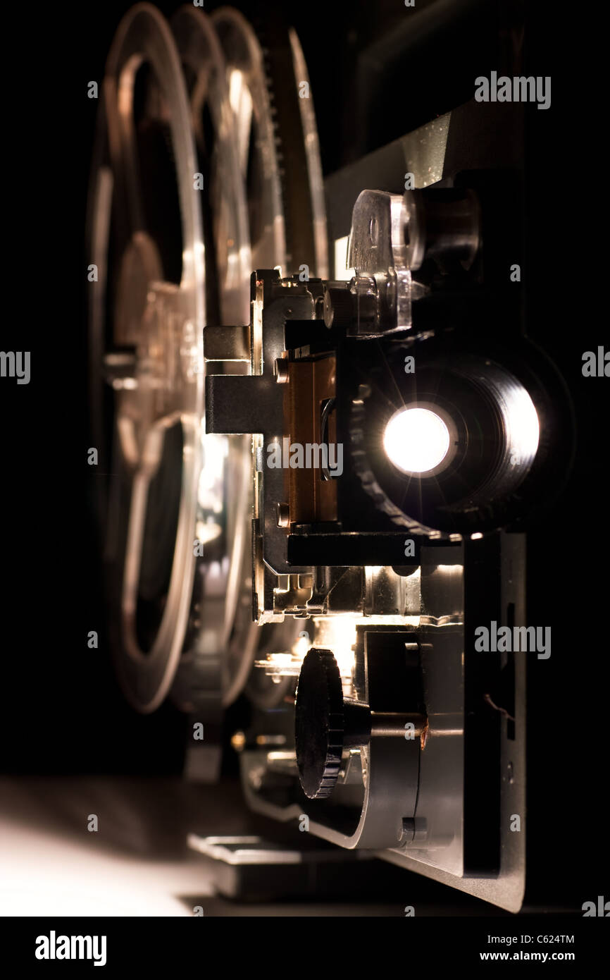 Old home cinema projector for 8 mm films - Stock Image