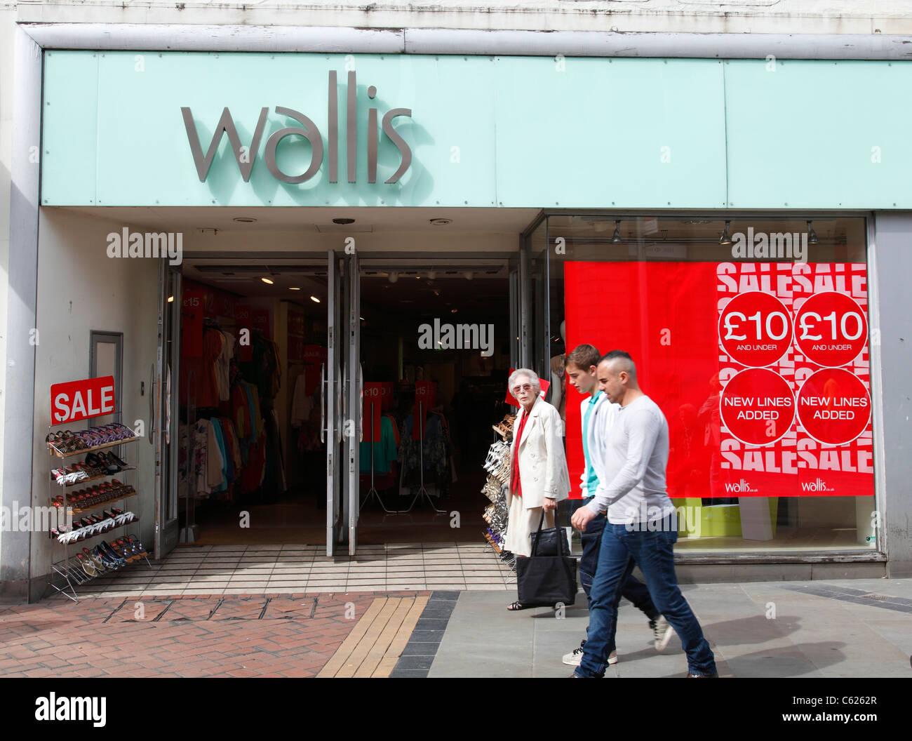 A Wallis store in Derby, England, U.K. - Stock Image