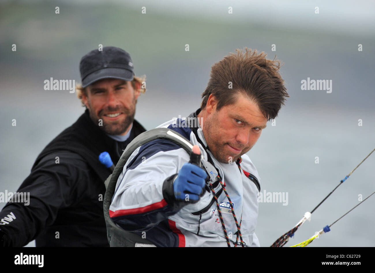 UK, Olympic Test Event, Iain Percy and Andrew Simpson - Stock Image