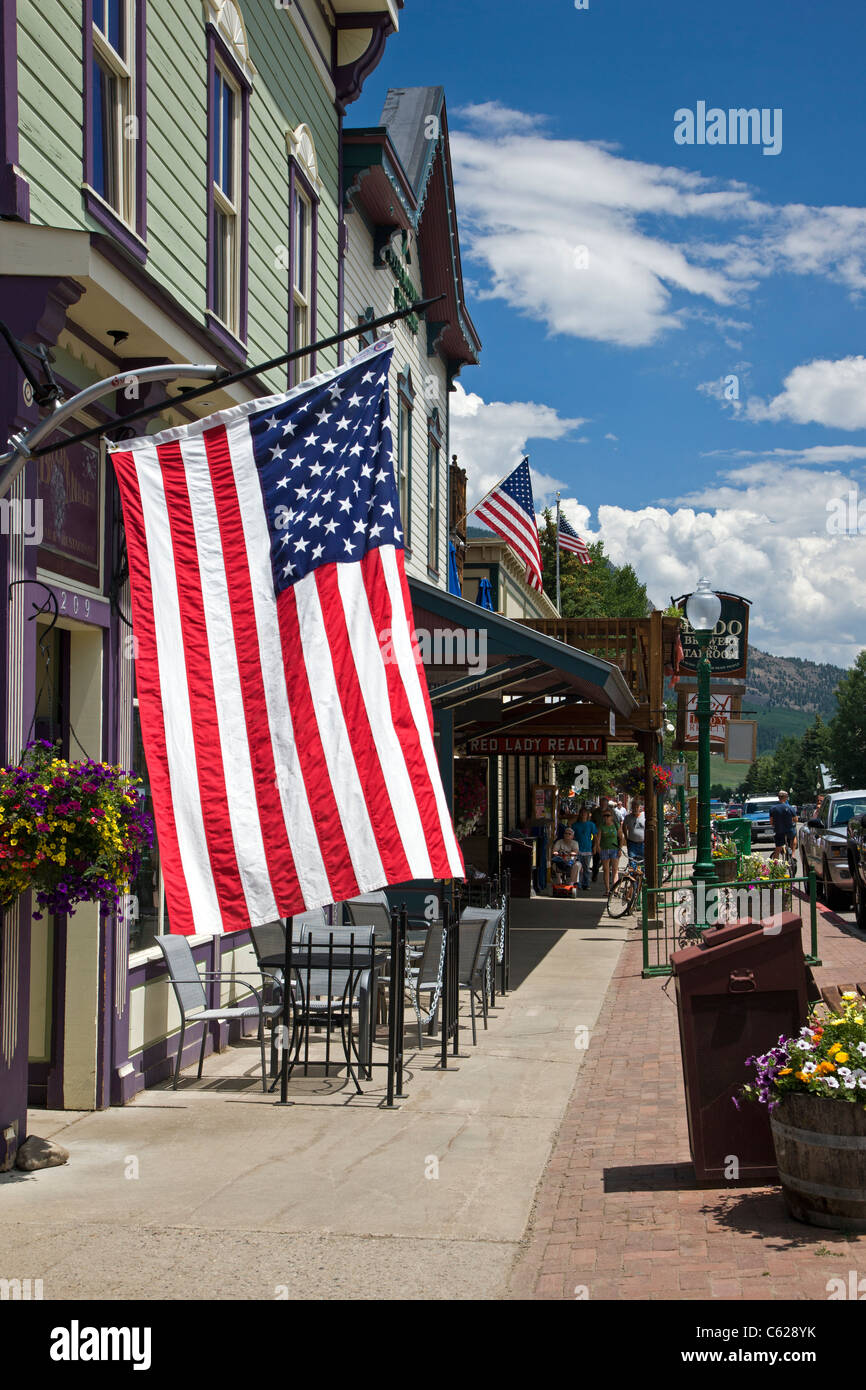 Crested Butte, Colorado is a vacation resort town located in the Rocky Mountains in Central Colorado, USA - Stock Image