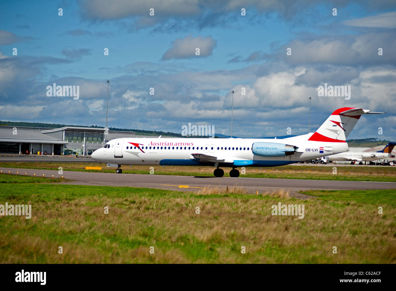 Austrian Arrows (Tyrolean Airways)Fokker 100 (F-28-0100)  SCO 7631 - Stock Image