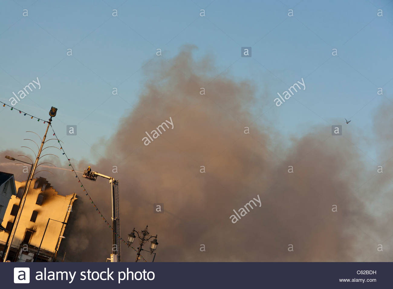 Fire Seafront Southsea England - Stock Image