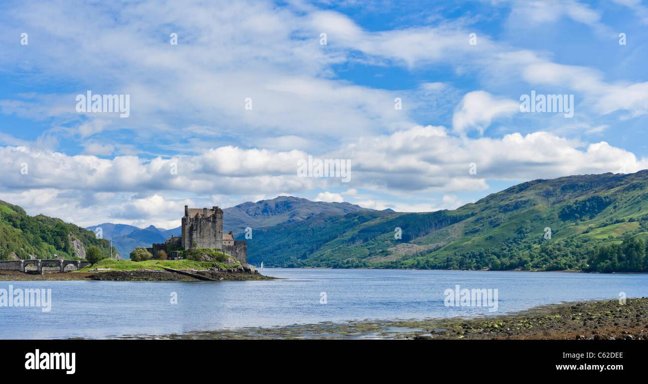 Eilean Donan Castle, Loch Duich, Highland, Scotland, UK. Scottish landscape / landscapes. - Stock Image