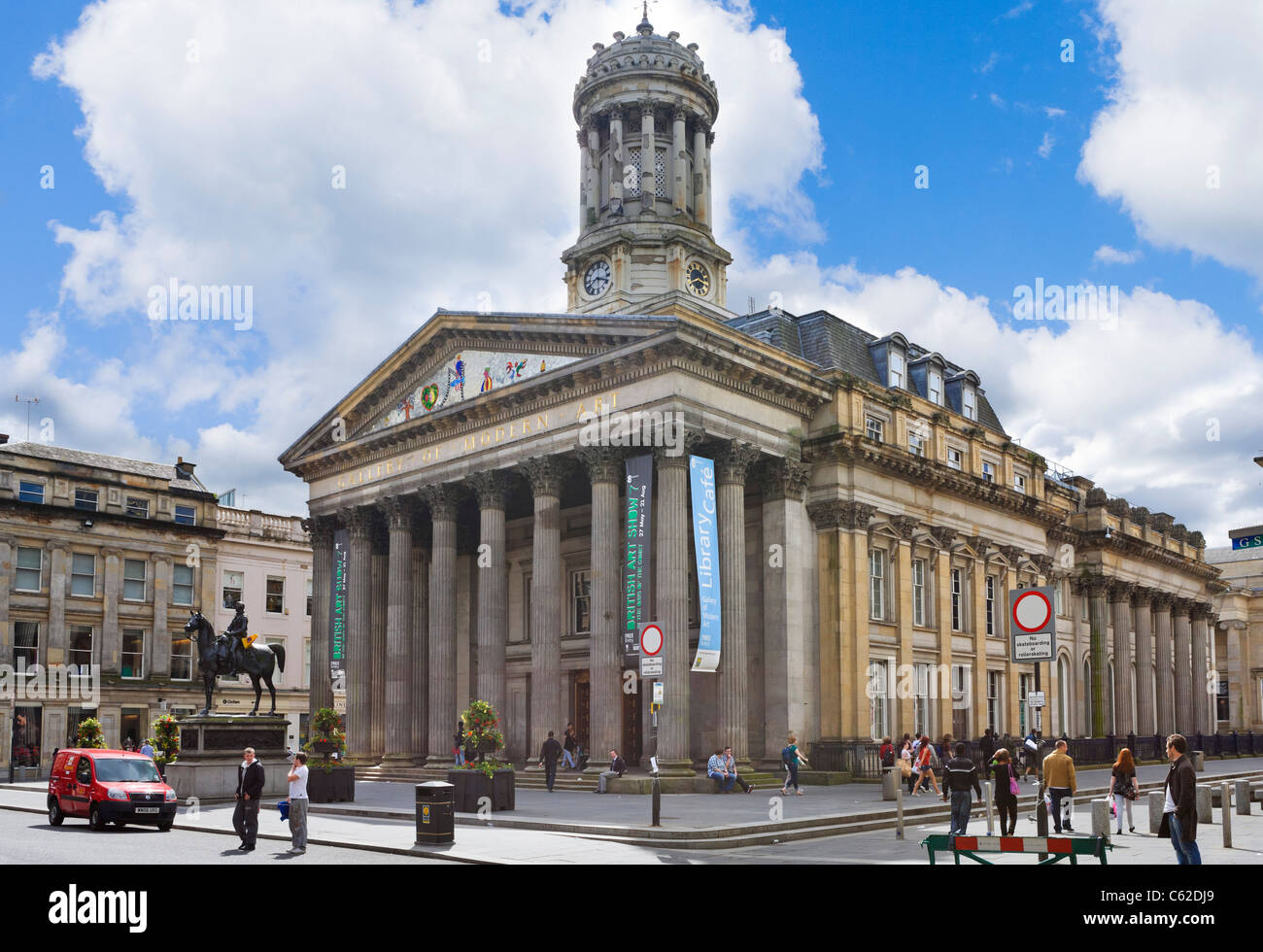 The Gallery of Modern Art, Royal Exchange Square, Merchant City, Glasgow, Scotland, UK - Stock Image