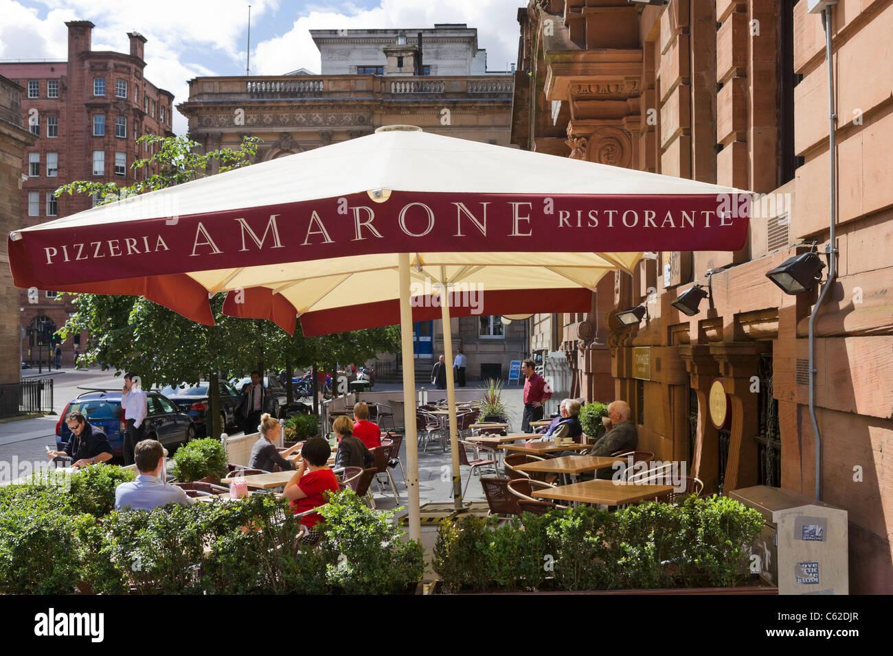 Restaurant on Buchanan Street in the city centre, Glasgow, Scotland, UK - Stock Image