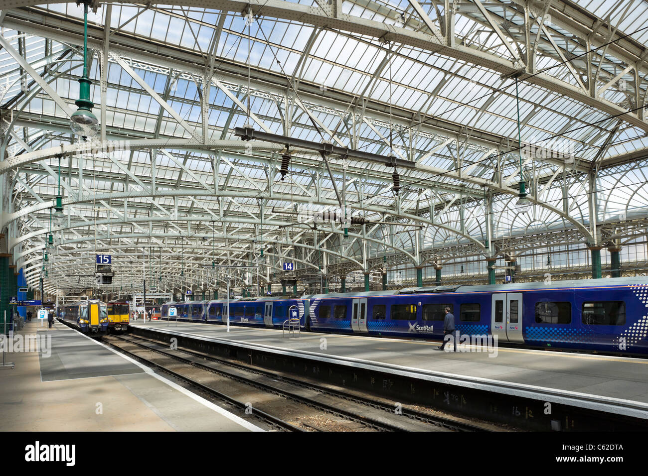 Glasgow Central Station, Glasgow, Scotland, UK - Stock Image