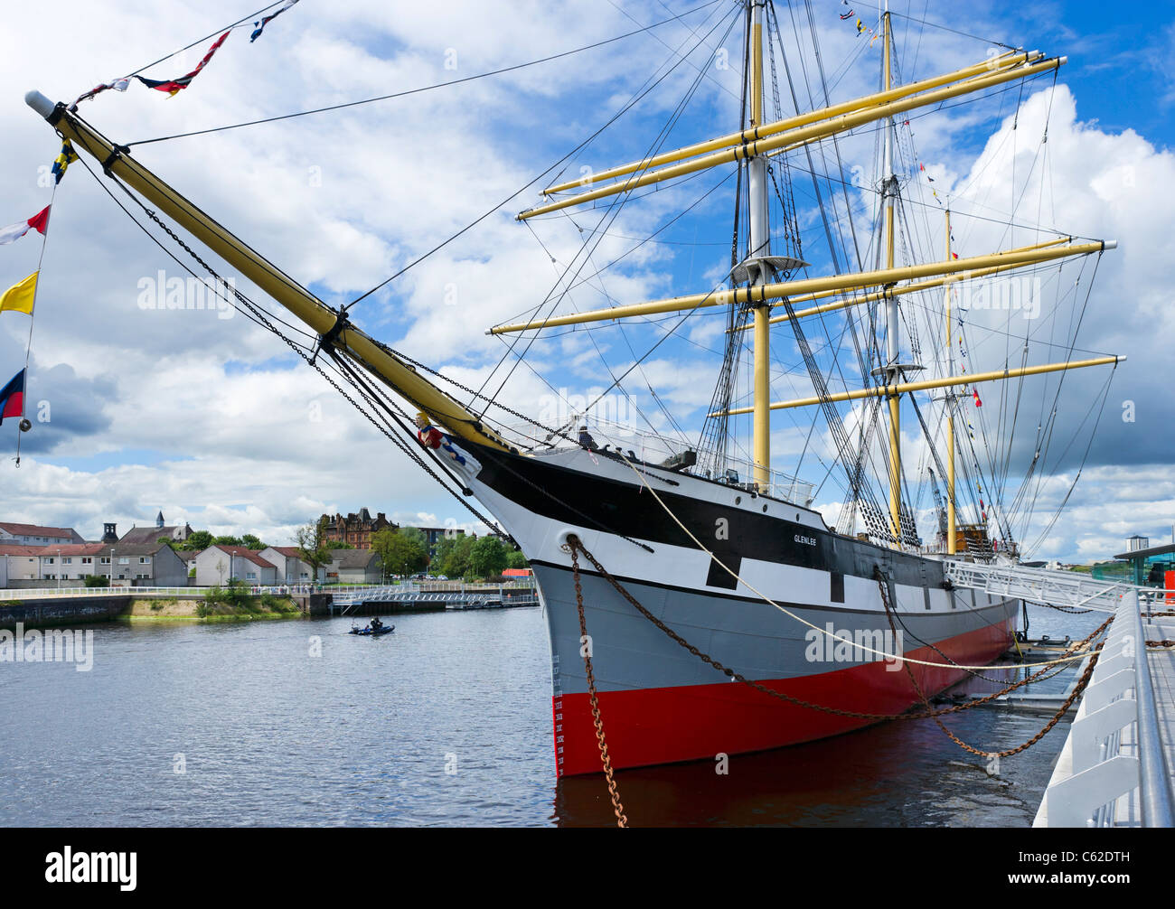 The Tall Ship 'Glenlee' outside, the Riverside Museum (new building of the Glasgow Museum of Transport), - Stock Image