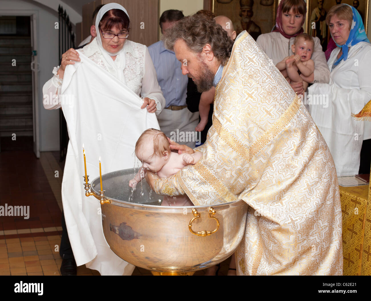 How many times did Russia actually baptize