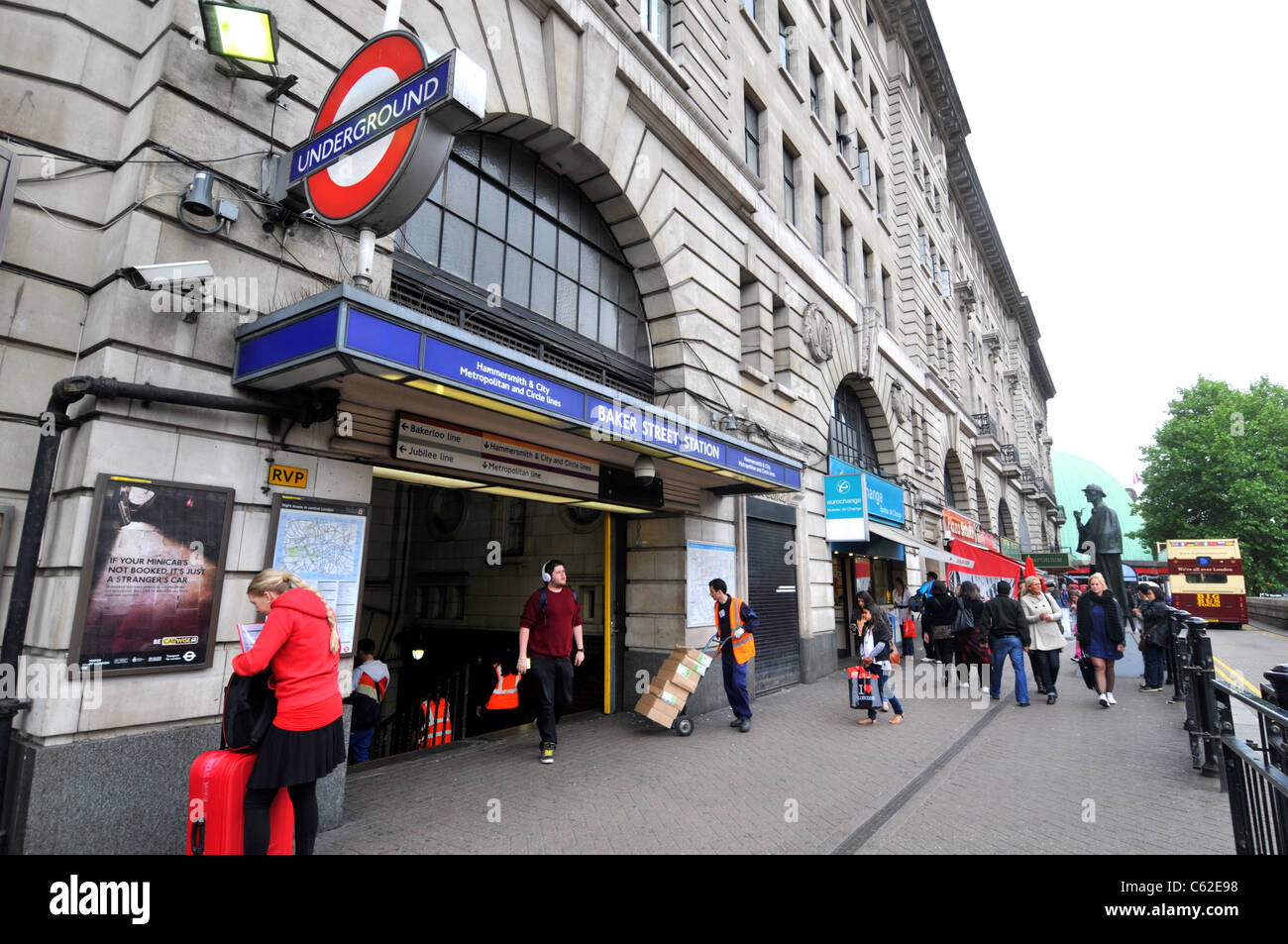 Baker Street Station station in Marylebone, London, Britain, UK - Stock Image