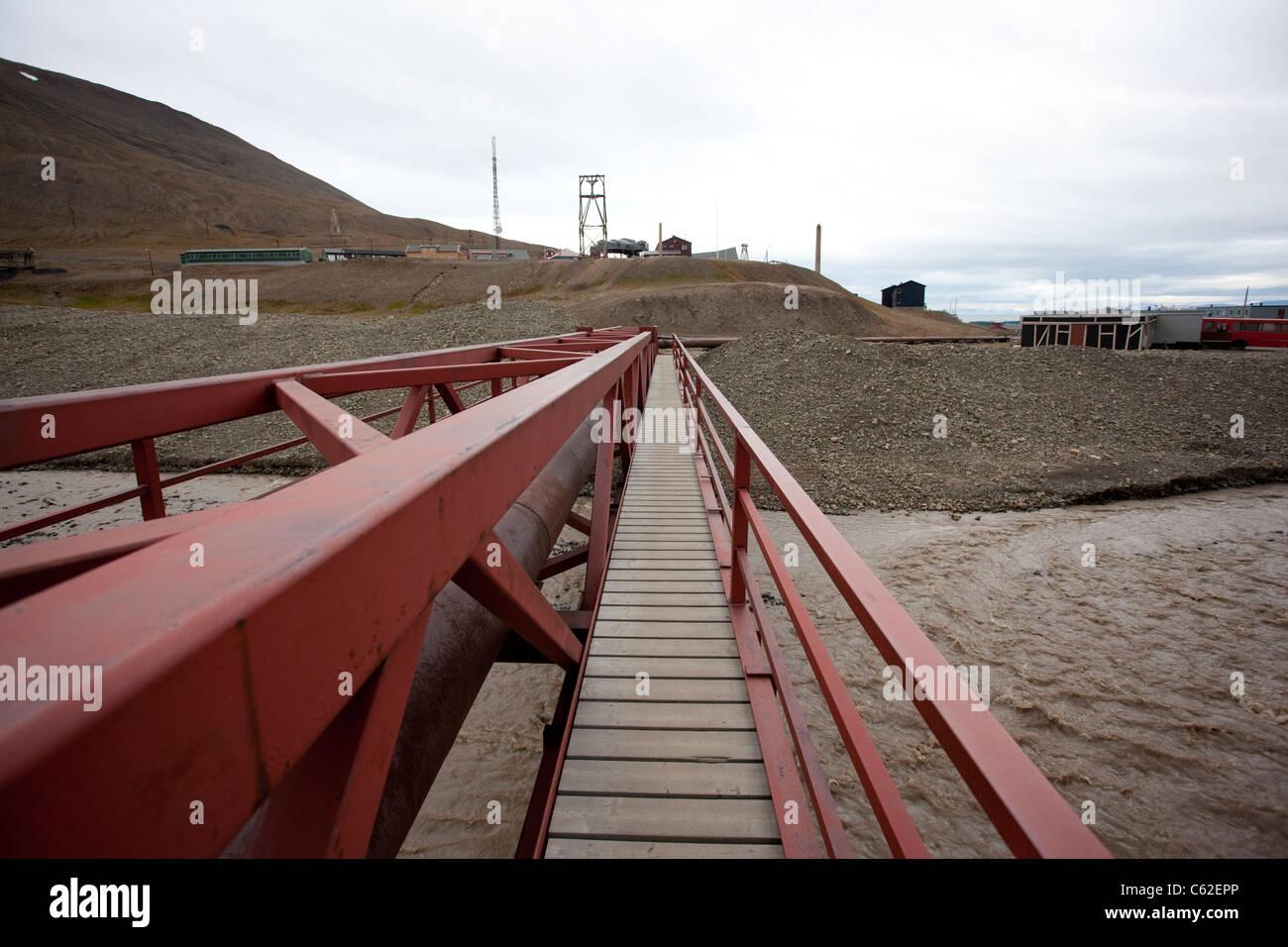Image shows Longyearbyen, the largest settlement of Svalbard archipelago, Norway. Photo:Jeff Gilbert - Stock Image