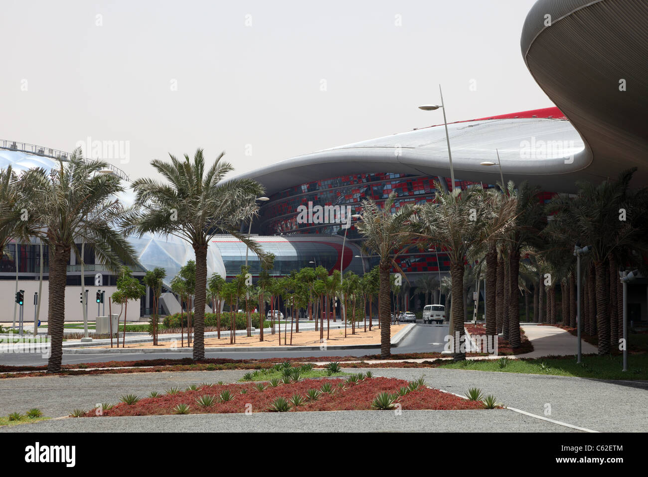 Ferrari World Theme Park in Abu Dhabi, United Arab Emirates - Stock Image