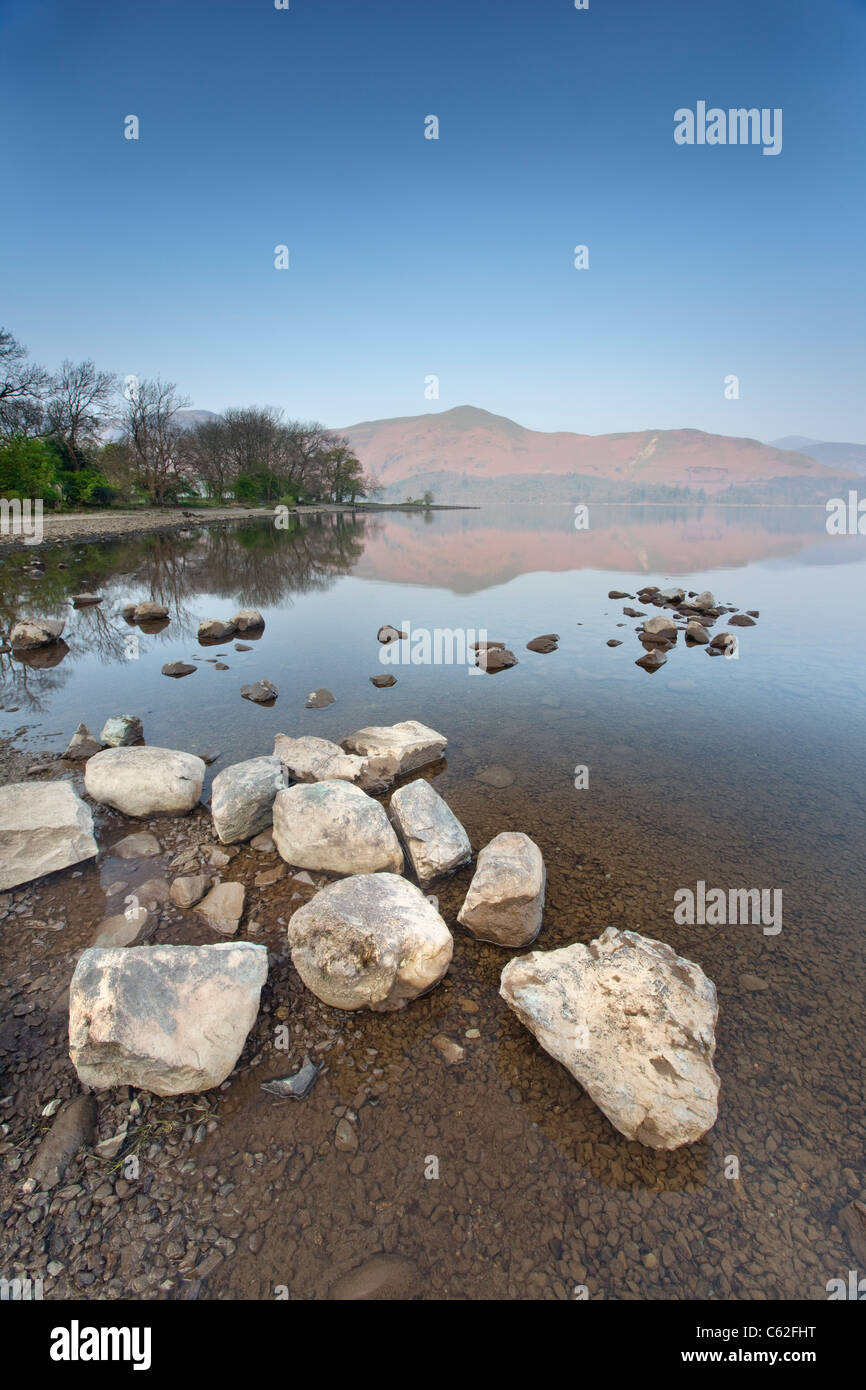 Derwentwater in the Lake District National Park. - Stock Image