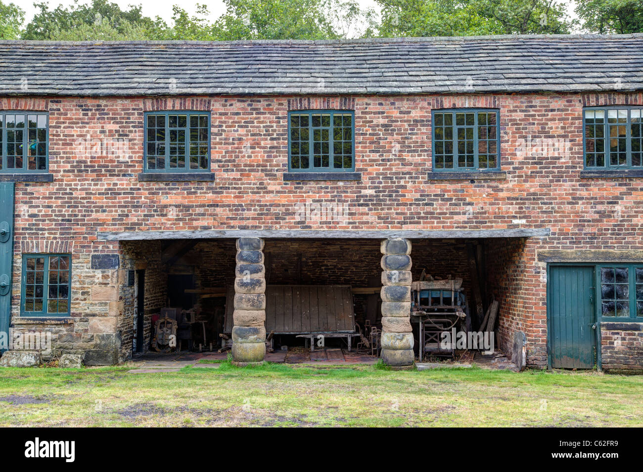 Abbeydale Industrial Hamlet, Sheffield, a scheduled ancient monument, and a Grade I listed building - Stock Image