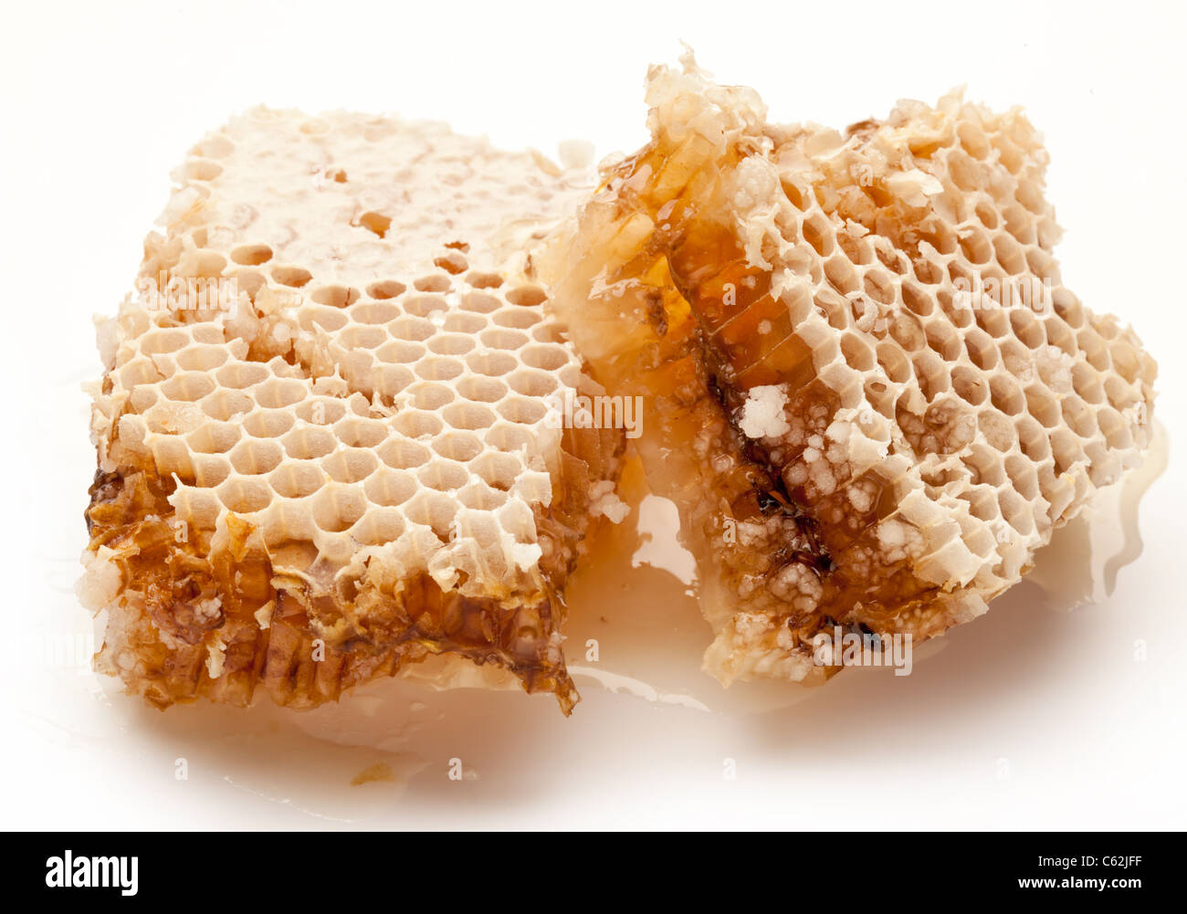 Close up view of honeycombs. - Stock Image