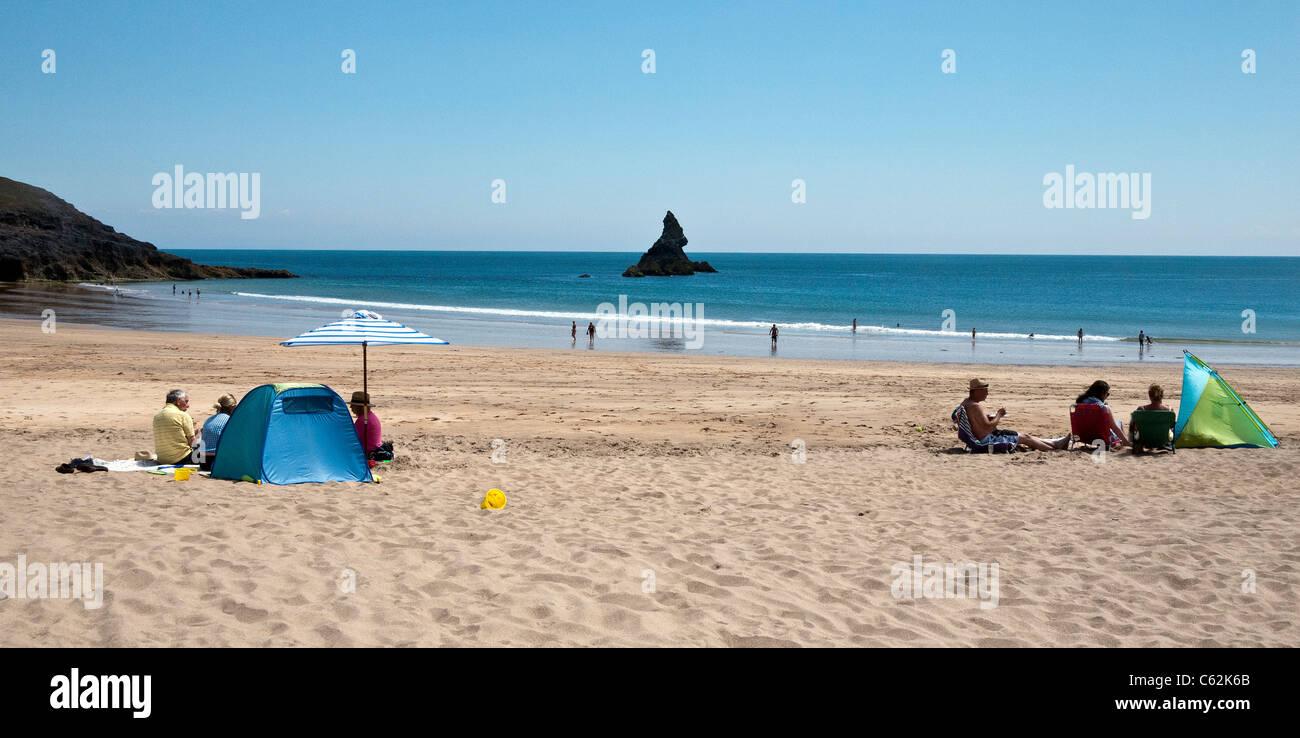 Broad Haven Beach, Pembrokeshire Coast, UK - Stock Image