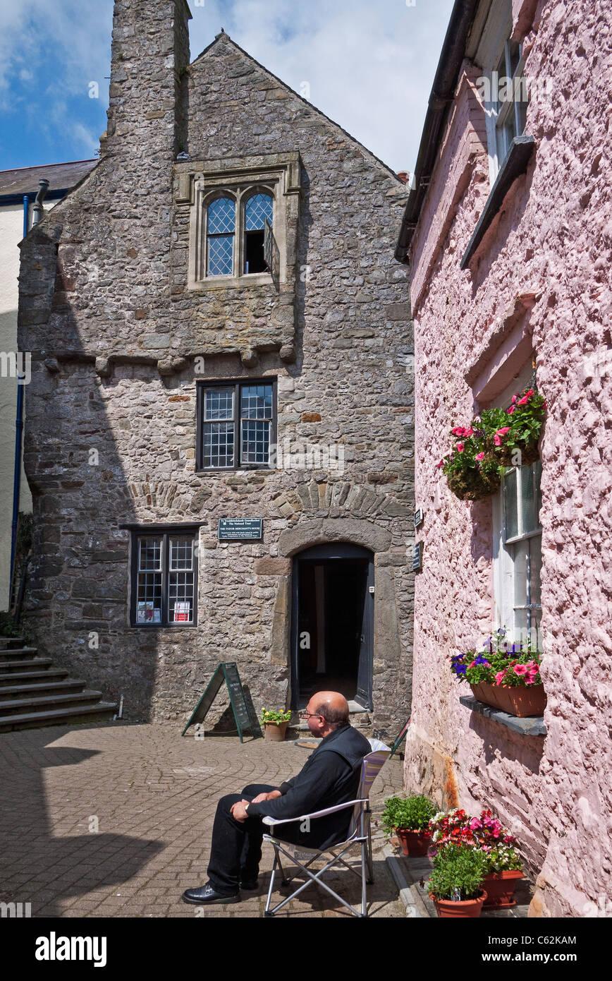 Tenby, Tudor Merchant's House, Pembrokeshire, South Wales, UK. - Stock Image