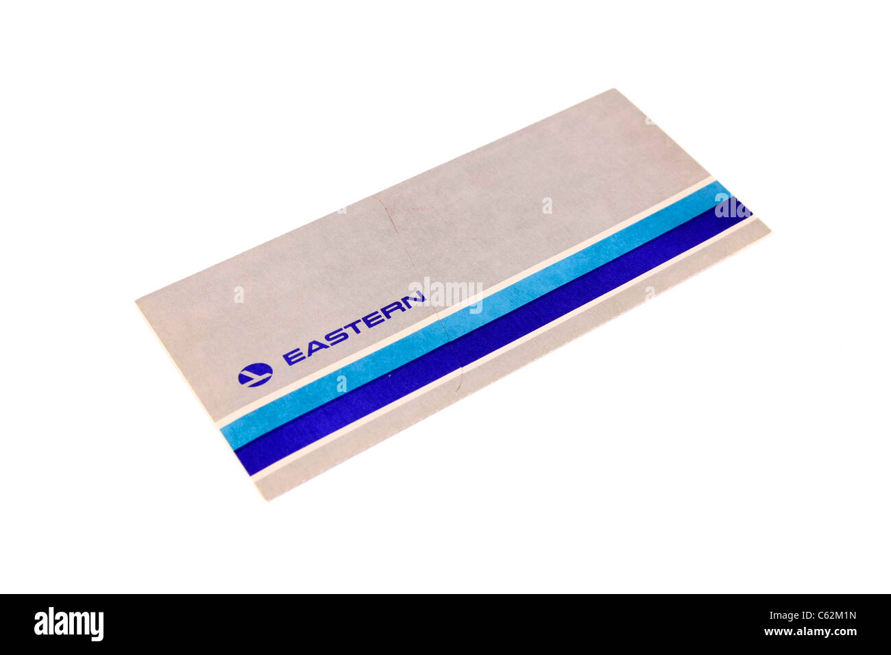 American Eastern Airlines Flight ticket - Stock Image