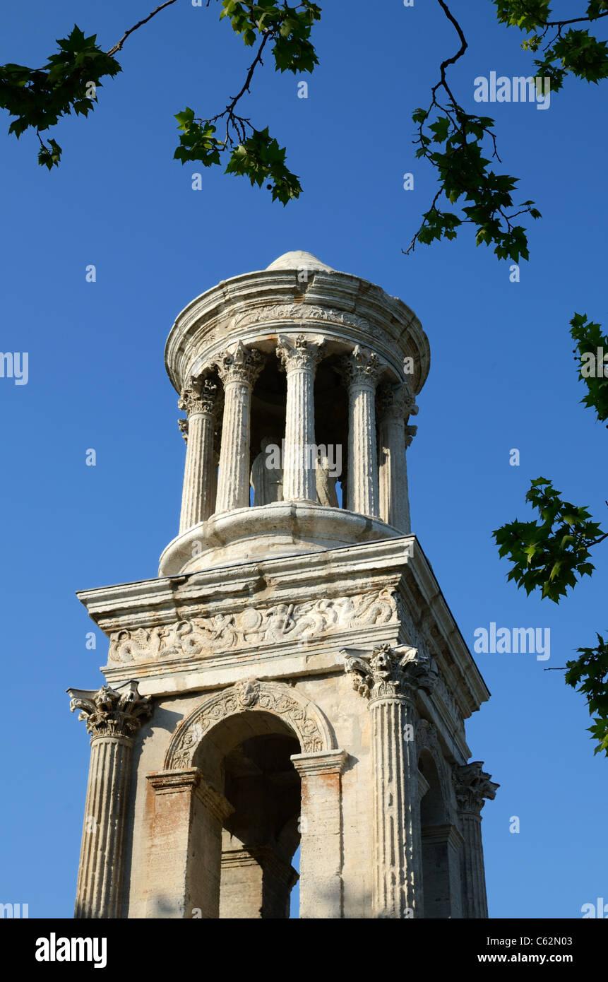 Les Antiques, a Roman Mausoleum at the Ancient Roman Town or Ruins of Glanum, near Saint-Rémy-de-Provence, - Stock Image