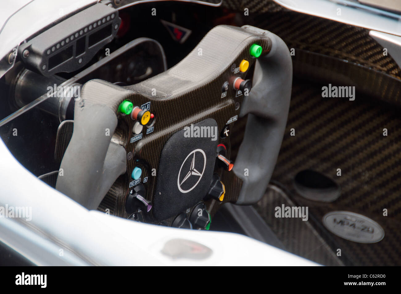 Mercedes-Benz presenting a Formula 1 race car at event 'Sternstunden - 125 years Mercedes-Benz' on August - Stock Image