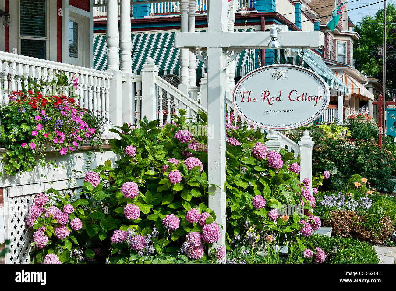 red cottage the virginia hotel cape may nj new jersy usa stock rh alamy com Sunset Cape May NJ Cape May NJ Boardwalk