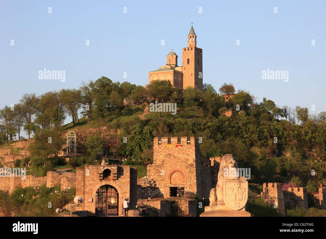 Bulgaria, Veliko Tarnovo, Tsarevets fortress, Church of the Patriarchate, Stock Photo
