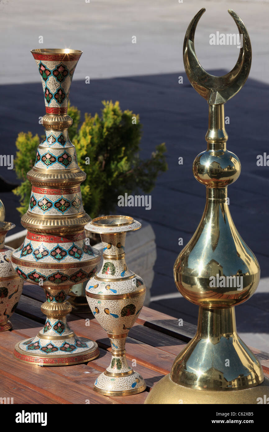 Turkey, Konya, handicraft, metalwork, - Stock Image