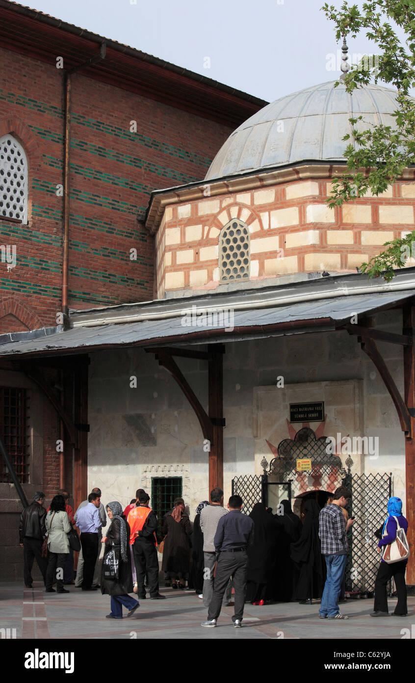 Turkey, Ankara, tomb of Haci Bayram Veli, sufi saint, - Stock Image
