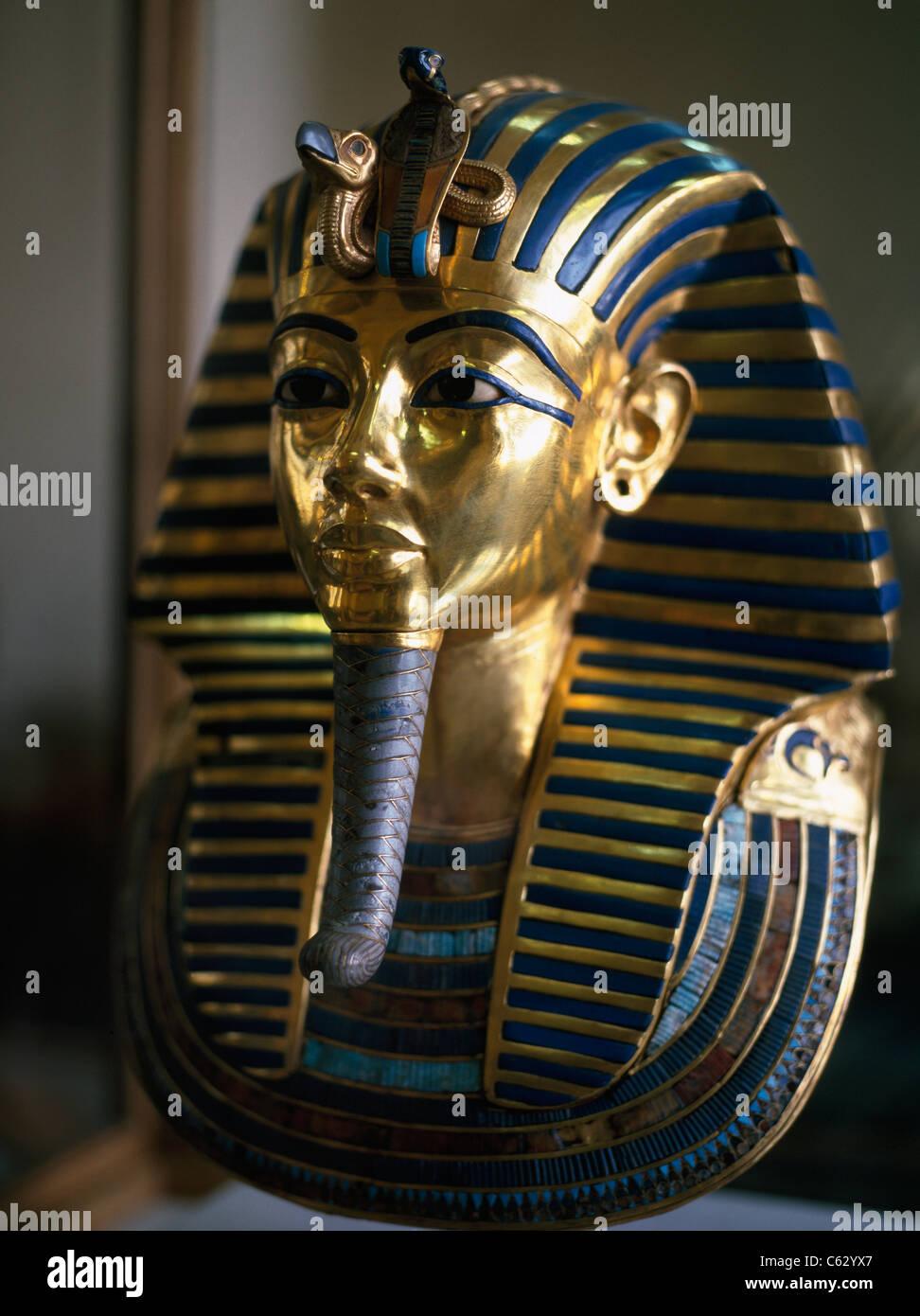 Tutankhamun in the Egyptian Museum, Cairo, Egypt - Stock Image