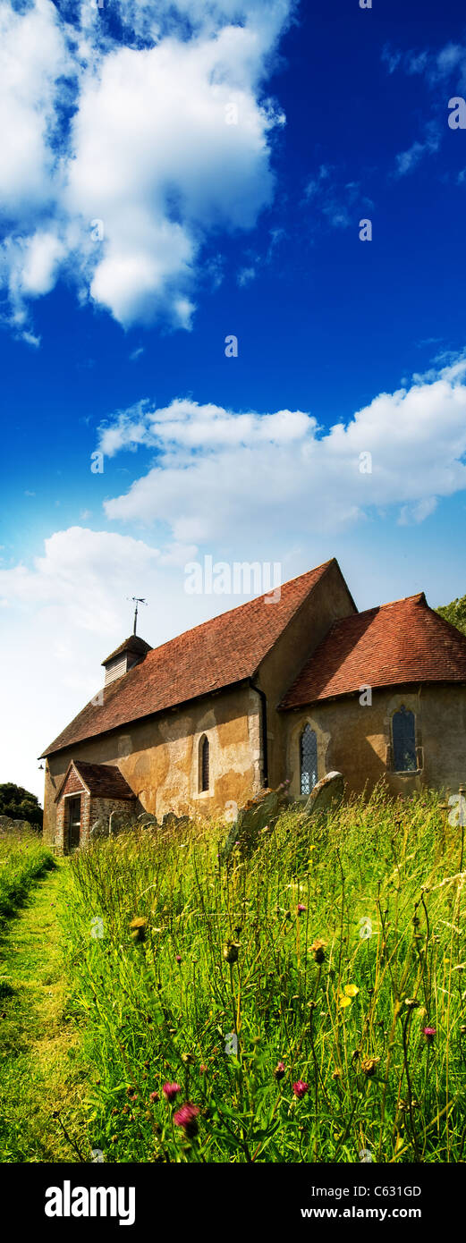 rural church summertime - Stock Image