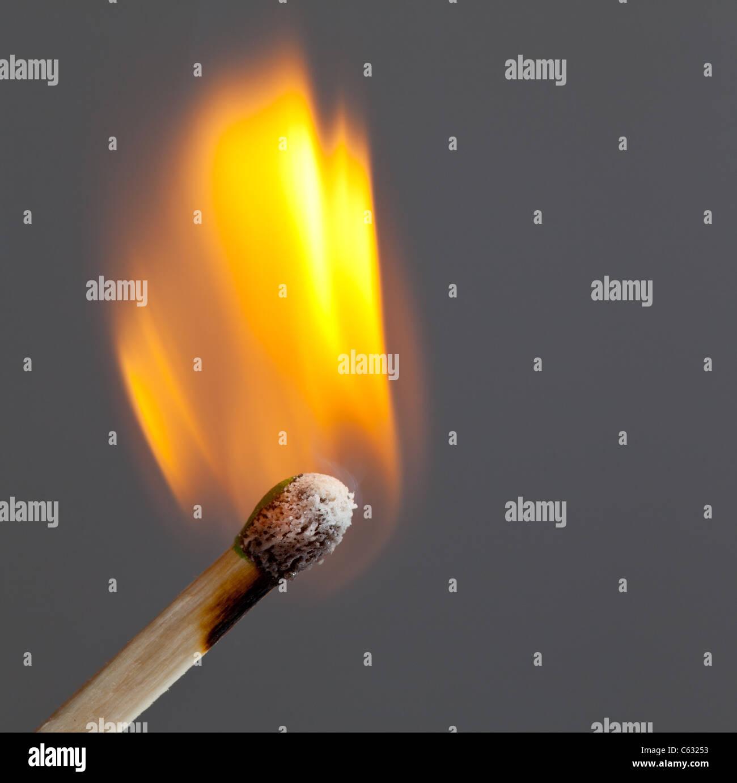 Match burning - Stock Image