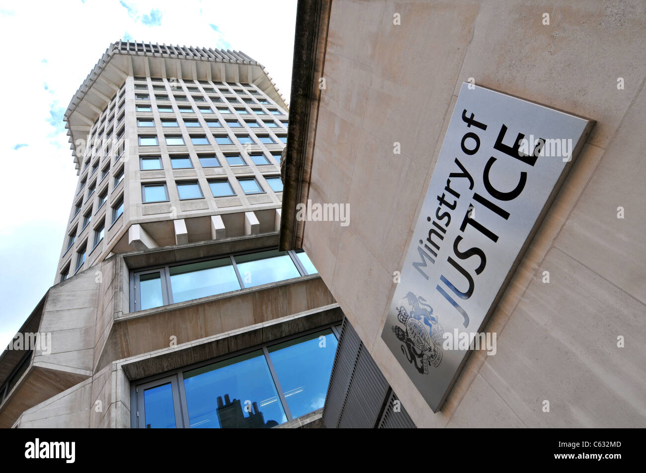 Ministry of Justice building, London, Britain, UK - Stock Image