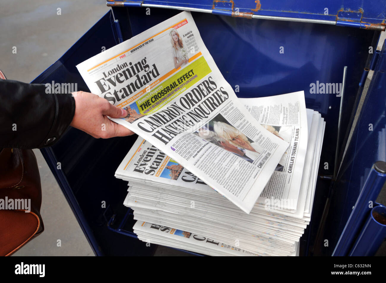London Evening Standard newspaper, London, Britain, UK - Stock Image